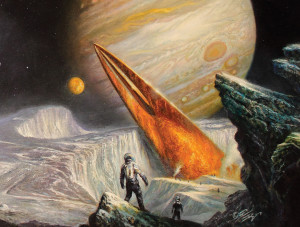 Marooned on Europa (by Bob Eggleton)